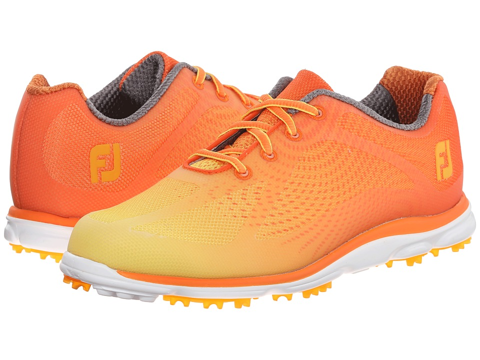 FootJoy - Empower Spikeless (Orange/Yellow) Women's Golf Shoes