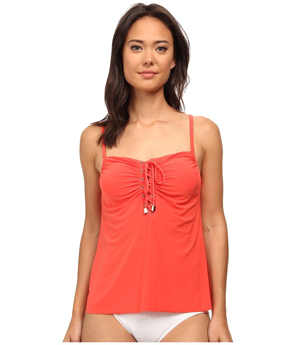 Magicsuit - Solid Jezebel Top (Guava) Women's Swimwear
