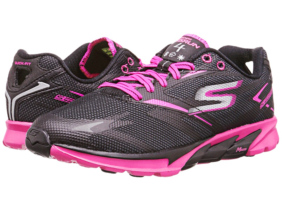 SKECHERS - GORun 4 All Weather (Black/Hot Pink) Women