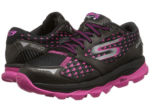 SKECHERS - GORun Ultra 2 All Weather (Black/Hot Pink) Women's Running Shoes