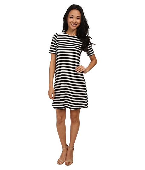 French Connection - Railroad Stars Dress 71DFV (Black/White) Women