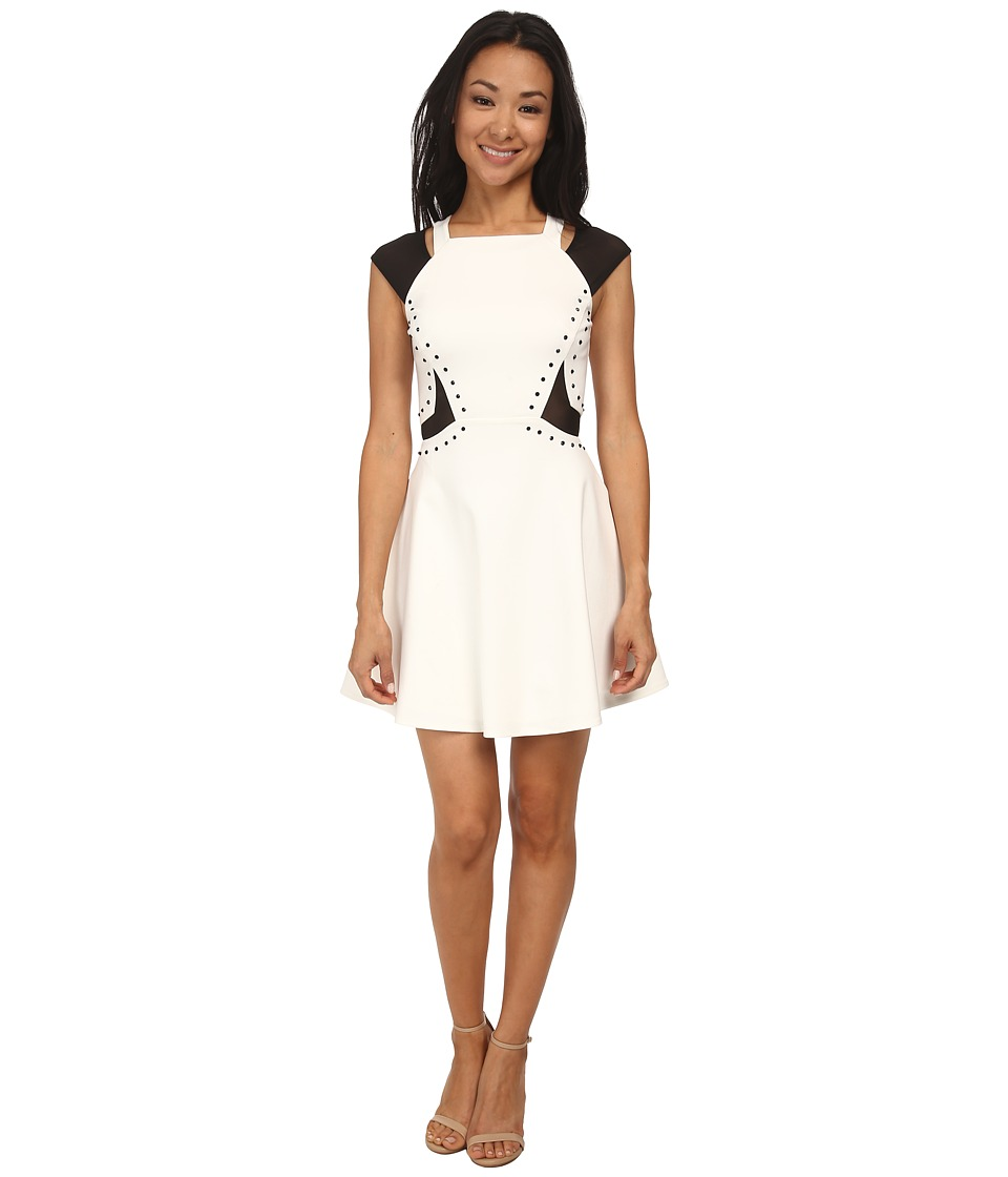 French Connection - Cora Stretch Embellished Dress 71DAR (Summer White) Women's Dress