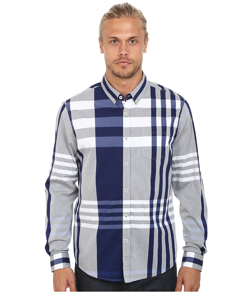7 Diamonds - Bound To Top (Blue) Men's Long Sleeve Button Up