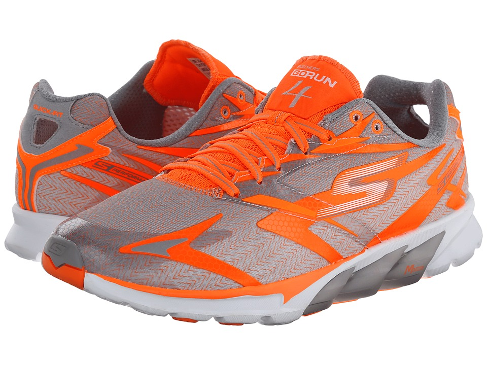 SKECHERS - GORun 4 Nite Owl (Orange/Grey) Men's Running Shoes