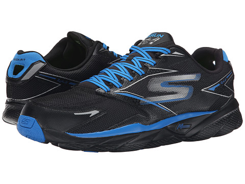 SKECHERS - GORun Ride 4 All Weather (Black/Blue) Men