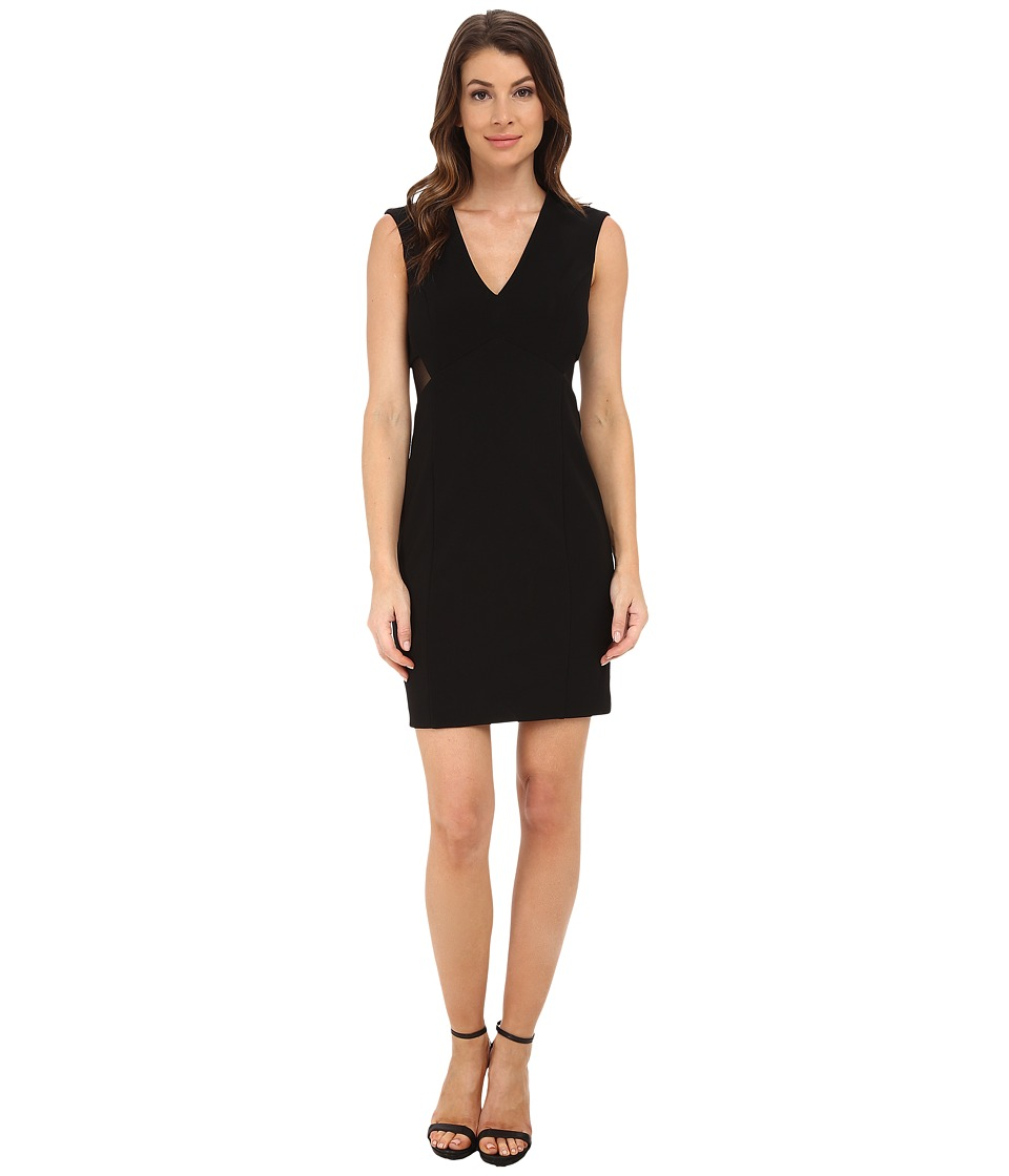 Aidan Mattox Illusion Back Cocktail Dress (Black) Women