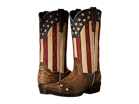 Dan Post - Liberty (Tan Vintage/Distressed Stars & Stripes) Men