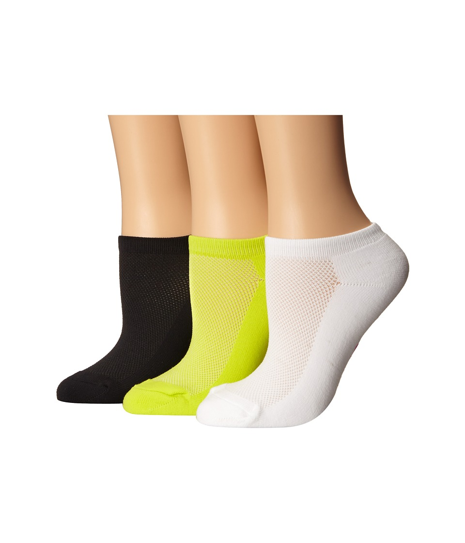 Betsey Johnson - Half Cushion Microfiber Mesh Upper Low Cut Sock 3-Pack (Bold Multi) Women's Low Cut Socks Shoes