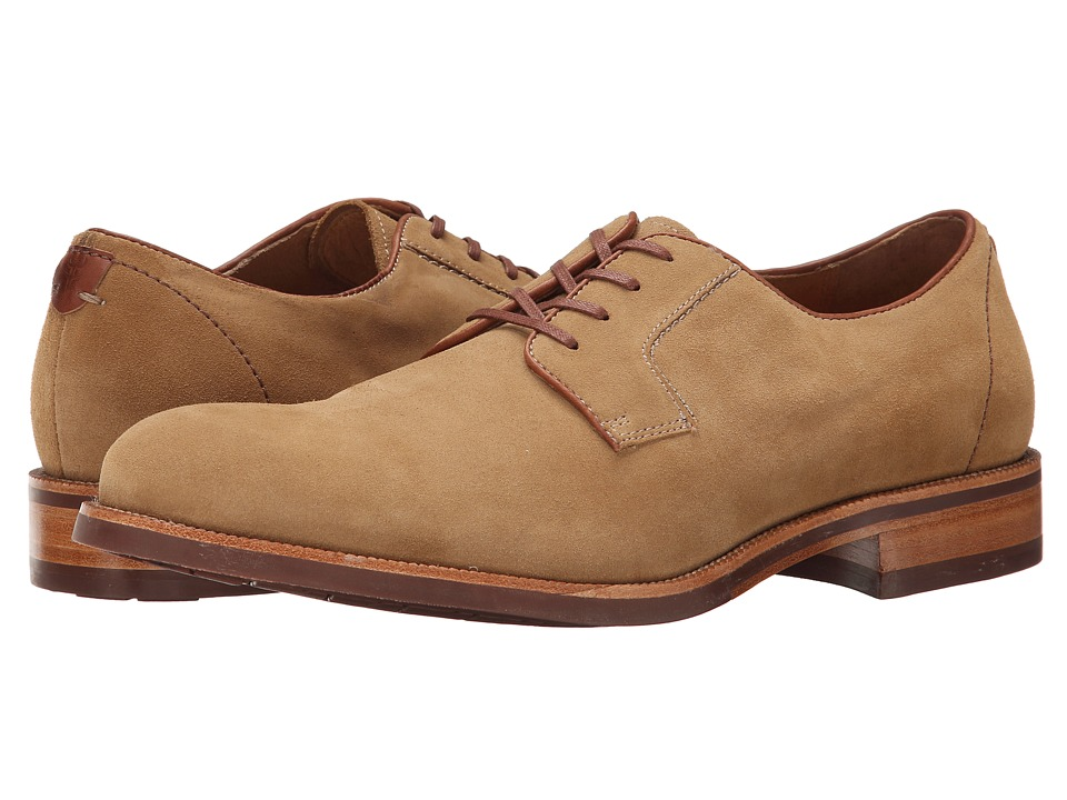 Trask - Fisher (Camel Water Resistant Suede) Men's Lace up casual Shoes
