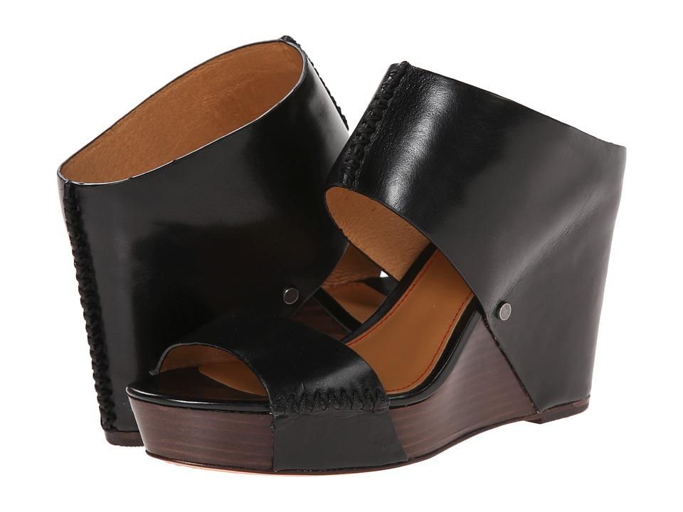 Trask - Riki (Black Italian Calfskin) Women's Wedge Shoes