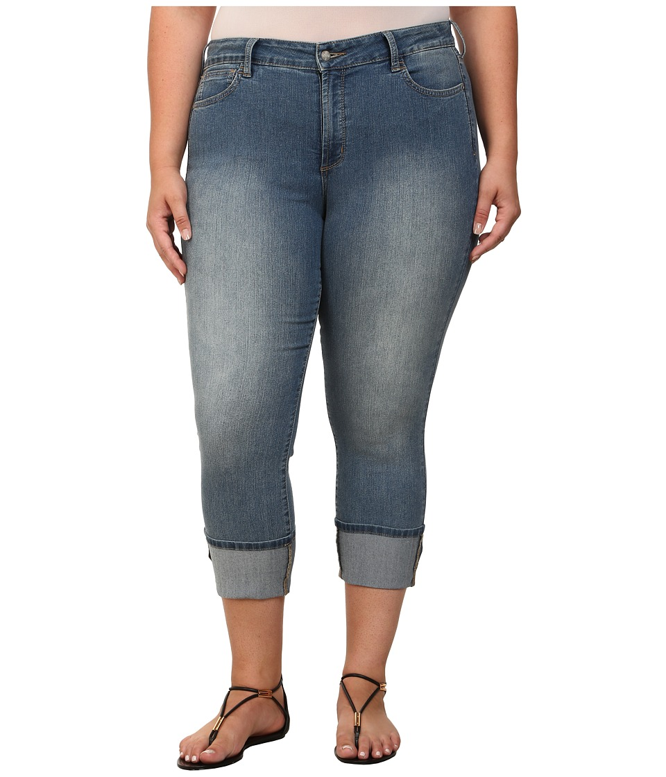 NYDJ Plus Size - Plus Size Lorena Skinny Boyfriend Capri in Eagle Creek (Eagle Creek) Women's Capri