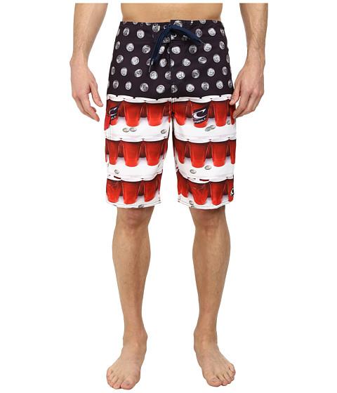 O'Neill - Quarters Boardshorts (Red) Men's Swimwear