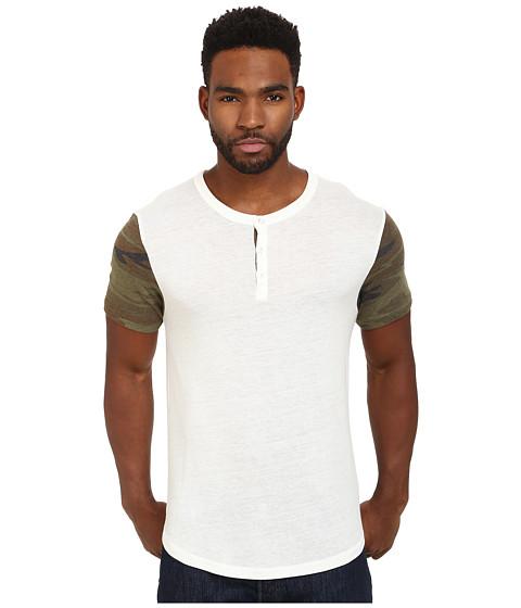 Alternative - Home Run Tee (Eco Ivory/Camo) Men's Short Sleeve Pullover