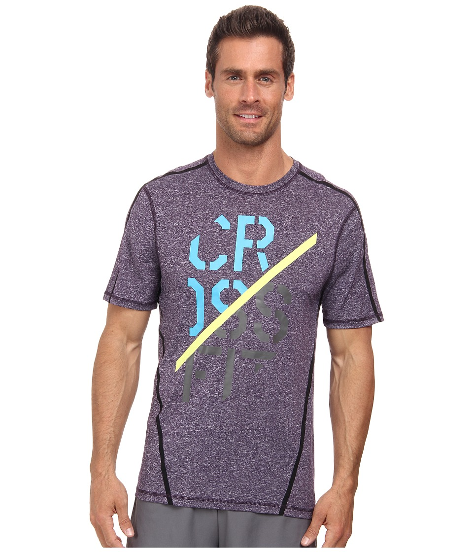 Reebok - CrossFit(r) Smooth Cut Performance Tee (Portrait Purple) Men's Short Sleeve Pullover