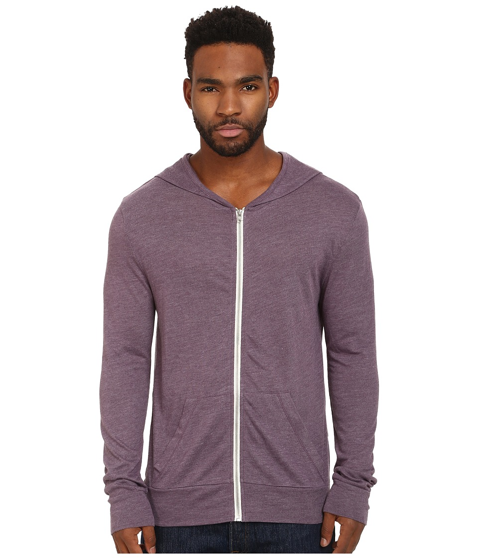 Alternative - L/S Zip Hoodie (Eco True Purple Haze) Men's Sweatshirt