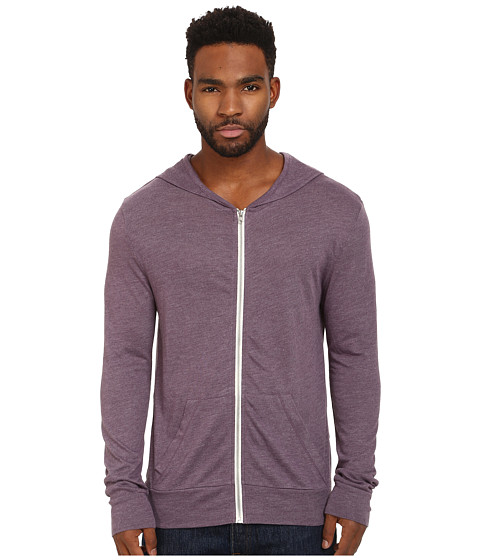 Alternative - L/S Zip Hoodie (Eco True Purple Haze) Men