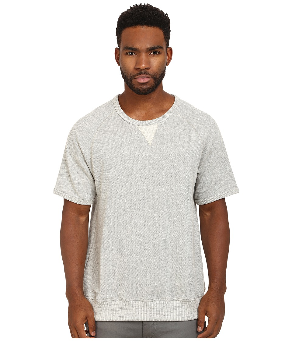 Alternative - Organic Light French Terry Short Sleeve Crew (Heather Grey) Men