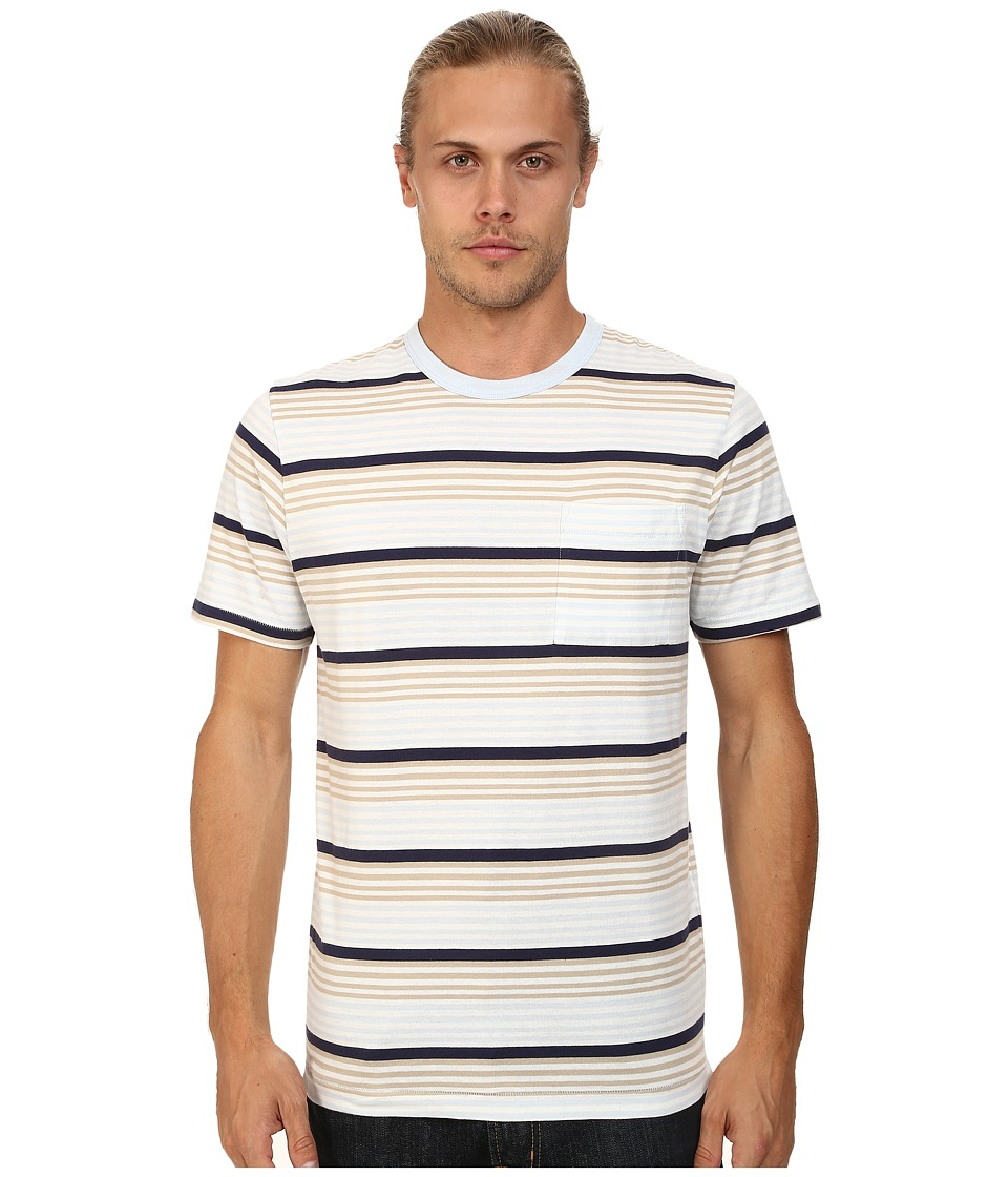 French Connection - Stripey Jersey (Cold Sky) Men's T Shirt