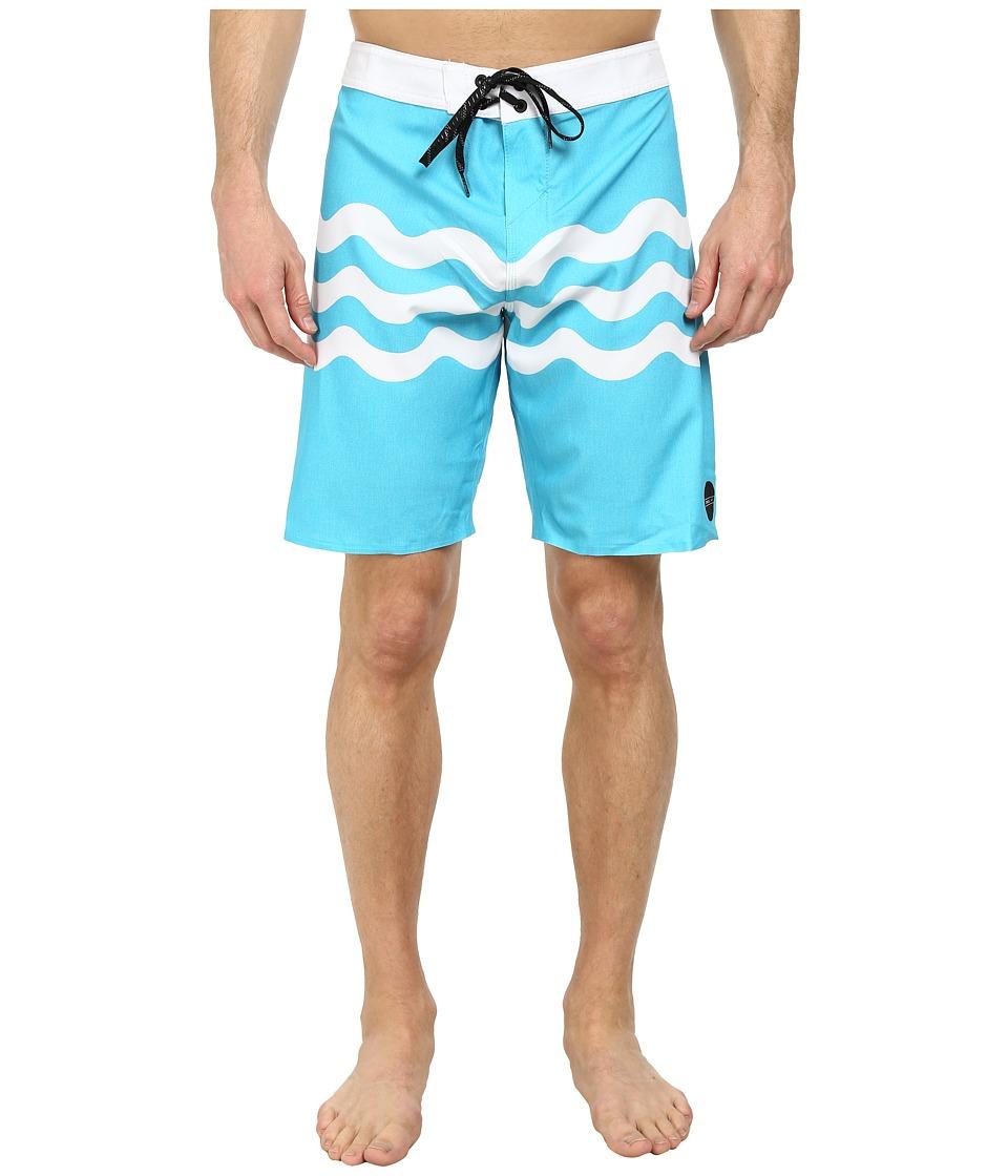 O'Neill - Freak Fourteen Boardshorts (Turquoise) Men's Swimwear