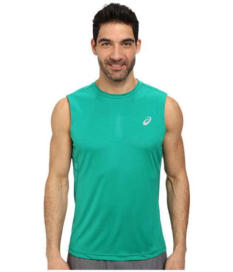 ASICS - Sleeveless Top (Jungle Green) Men's Sleeveless