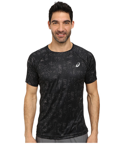ASICS - Graphic Short Sleeve Top (Skyline Performance Black) Men's Sleeveless