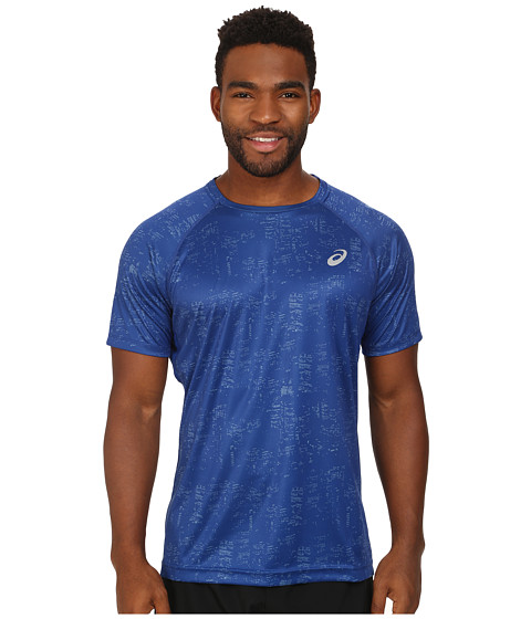 ASICS - Graphic Short Sleeve Top (Skyline Air Force) Men's Sleeveless