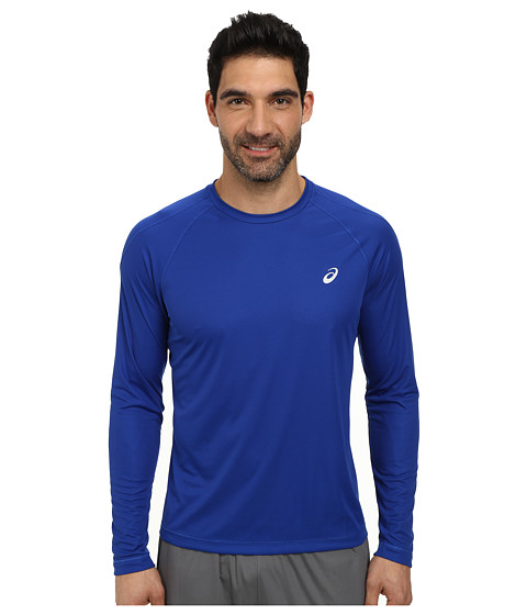 ASICS - Long Sleeve Crew (Air Force Blue) Men's Long Sleeve Pullover