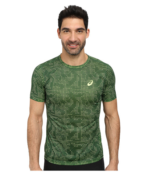 ASICS - Printed Tee (Oak Green Grid) Men's T Shirt