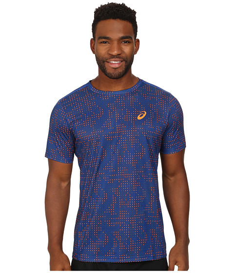 ASICS - Printed Tee (Air Force Blue Grid) Men's T Shirt