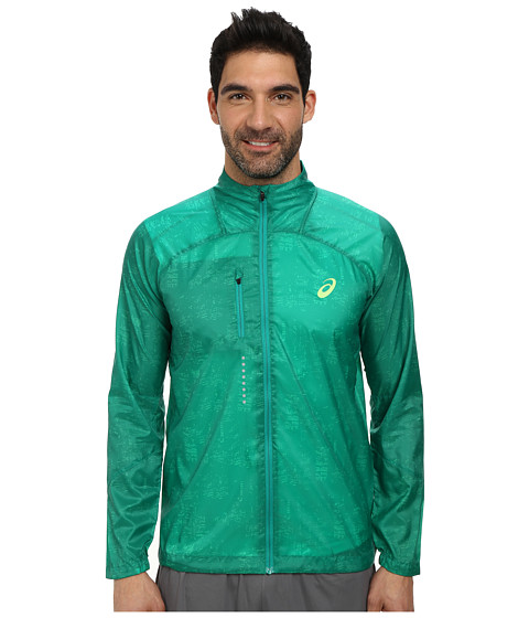 ASICS - Lightweight Jacket (Skyline Jungle Green) Men's Coat