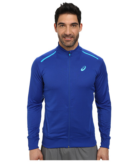 ASICS - Track Jacket (Air Force Blue Heather) Men's Jacket
