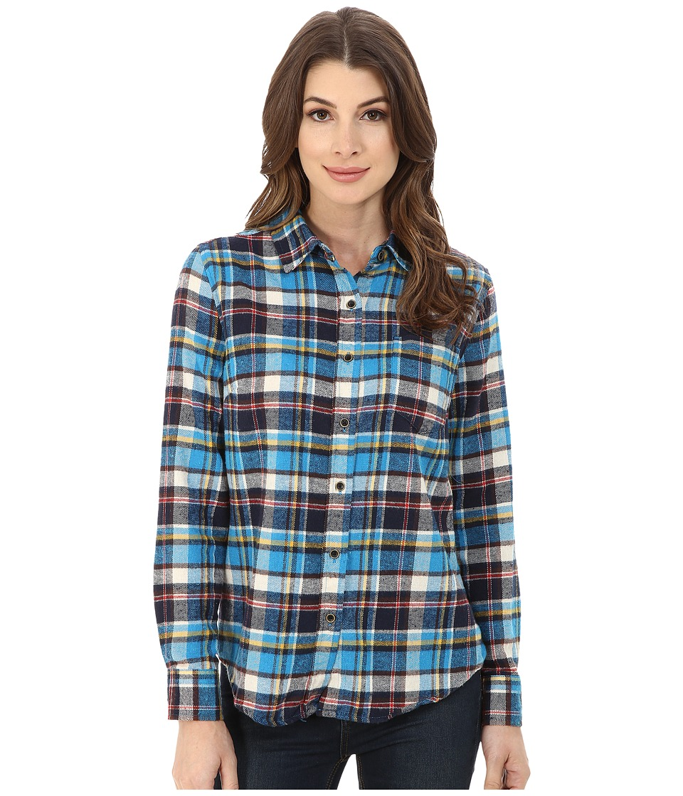 J.A.C.H.S. - Single Pocket Shirt (Turquoise) Women's Long Sleeve Button Up