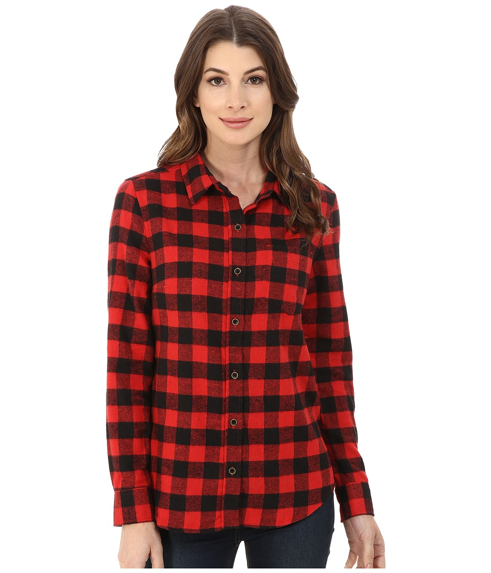 J.A.C.H.S. - Single Pocket Shirt (Red) Women's Long Sleeve Button Up