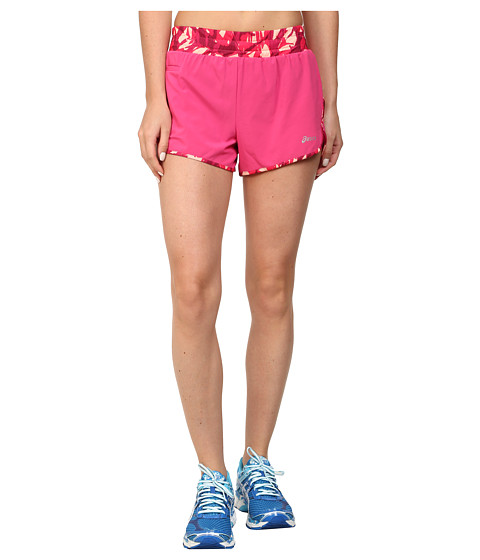 ASICS - Distance Shorts (Ultra Pink/Fizzy Collage) Women