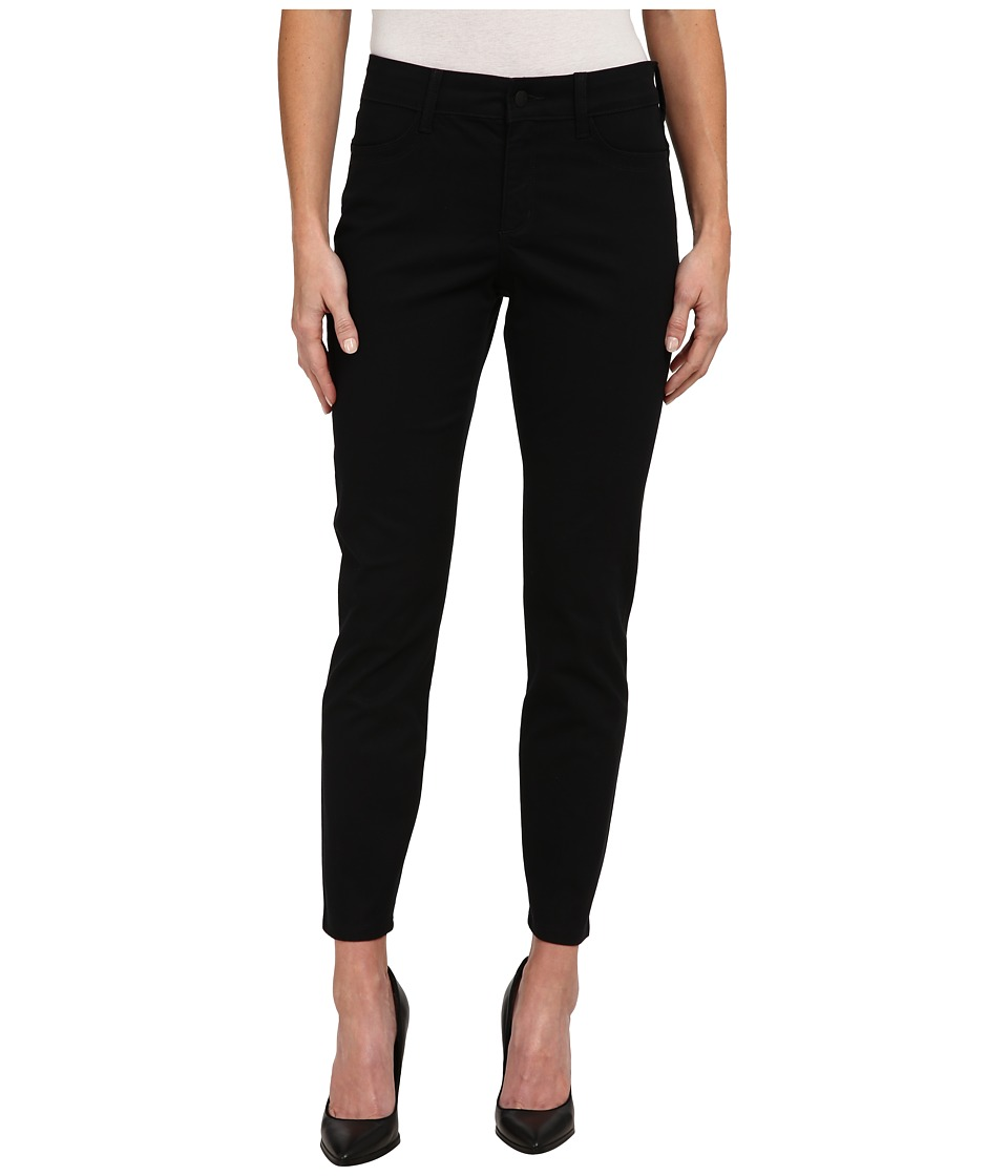 NYDJ - Adalaine Skinny Ankle Peached Sateen (Black) Women's Casual Pants