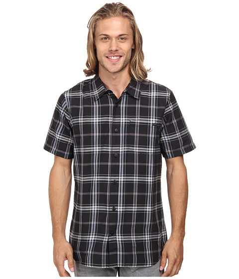 O'Neill - Arcade Woven (Black) Men's Short Sleeve Button Up