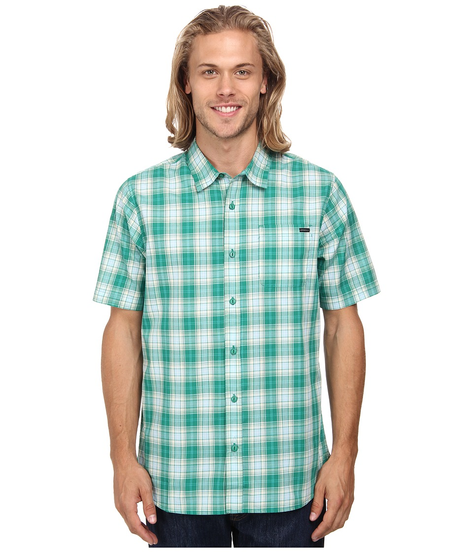O'Neill - Chit Chat Woven (Green) Men's Short Sleeve Button Up