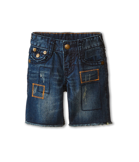 True Religion Kids - Geno Super T Shorts (Toddler) (Asphalt) Boy