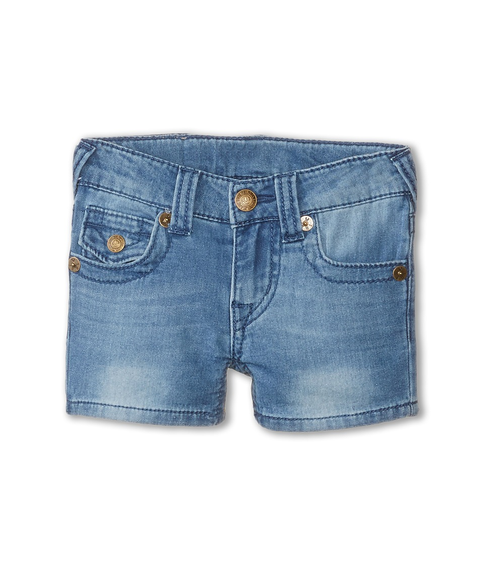 True Religion Kids - Joey Indigo Shorts (Toddler) (Light Blue Blast) Girl