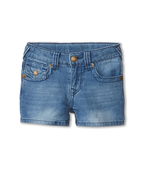 True Religion Kids - Joey Indigo Shorts (Little Kids) (Light Blue Blast) Girl