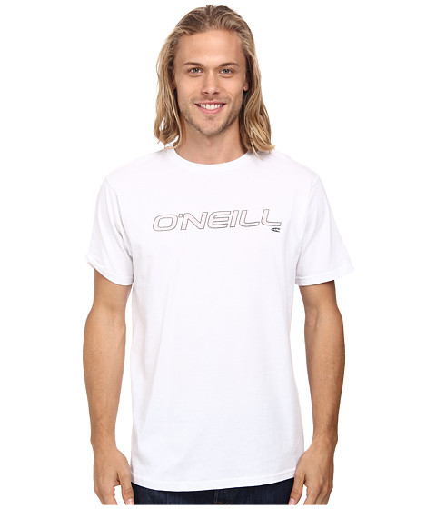 O'Neill - Only One Short Sleeve Screen Tee (White 1) Men's T Shirt