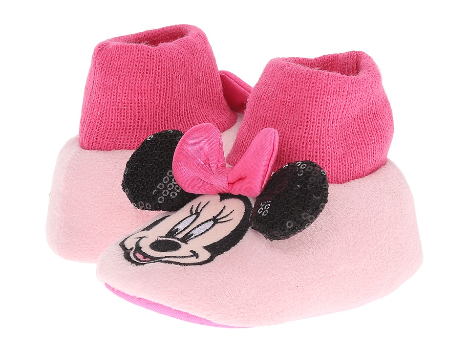 Favorite Characters - Disney Minnie MNF204 Sock Top Slipper (Infant/Toddler) (Pink) Girls Shoes
