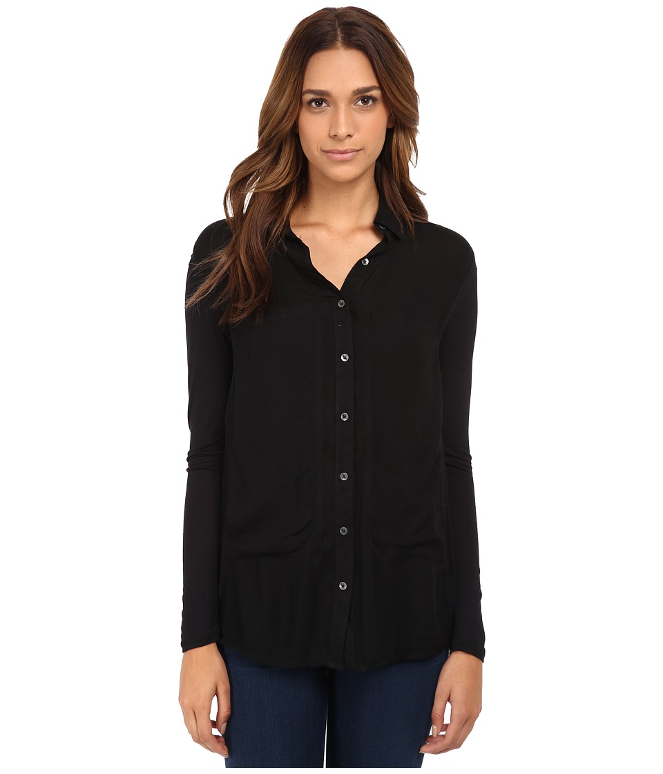 Free People - Breakfast In Bed (Black) Women's Blouse