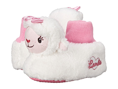 Favorite Characters - Disney Lambie DMF201 Sock Top Slipper (Toddler) (White) Girls Shoes
