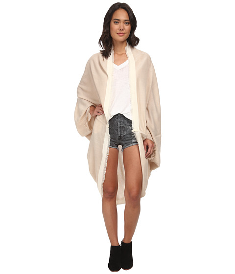Free People - Cocoon Wrap Kimono Jacket (Oatmeal Combo) Women's Coat
