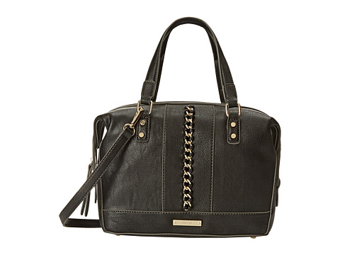 Nine West - Off The Chain Medium Satchel (Black) Satchel Handbags