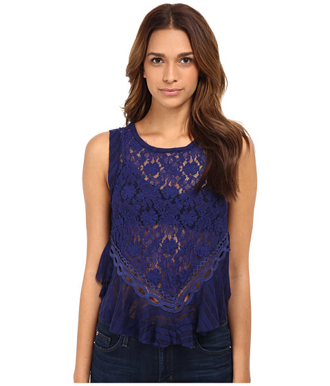 Free People - Dark Bloom Tank Top (Indigo) Women's Sleeveless