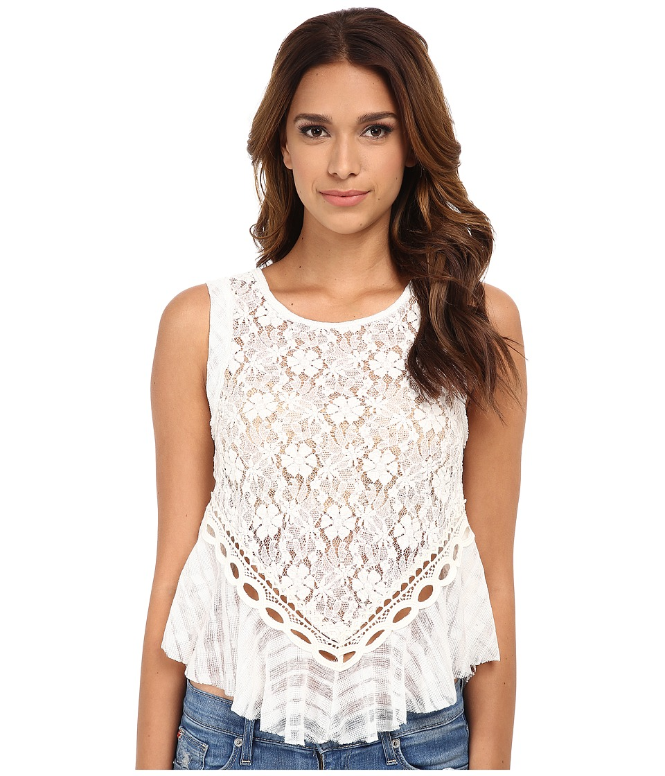 Free People - Dark Bloom Tank Top (Ivory) Women's Sleeveless