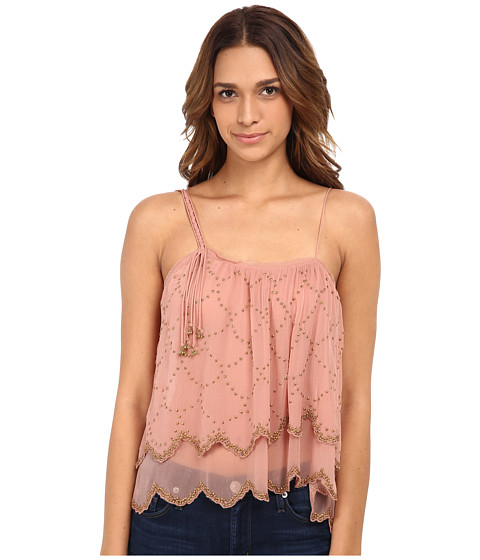 Free People - Fairy Dust Top (Dark Peach) Women's Clothing