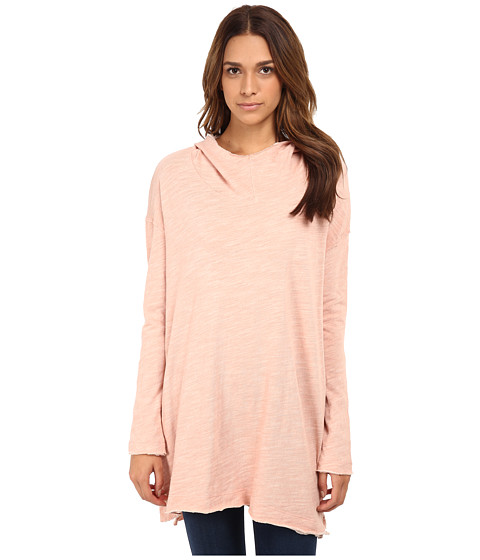 Free People - In A Hurry Hoodie (Pink Sand) Women